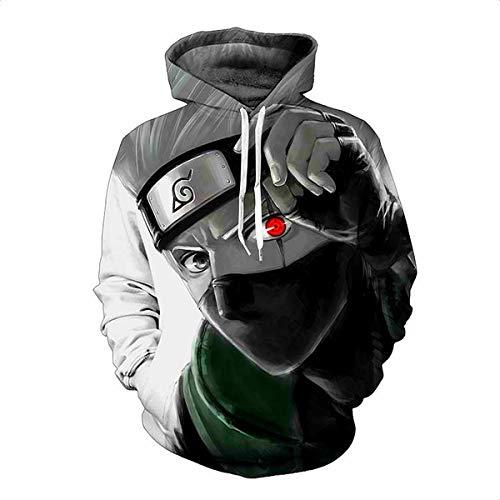CHENMA Men Naruto 3D Print Pullover Hoodie Sweatshirt with Kangaroo Pocket (Winter/Color 2, Tag XXL/US XL)
