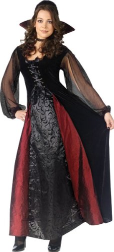 Goth Maiden Vampiress Costume - Small/Medium - Dress Size 2-8 -