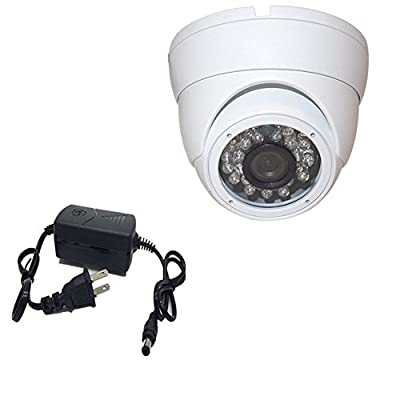 """KLAREN HQ 1000TVL CCTV Home Security Camera 1/3"""" Sony CCD 23 Infrared LEDs Day Night Vision Home Dome Surveillance Camera (with US Plug+Installation Package)"""