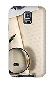 New Arrival Case Cover With BjgUpCy1141vWpwK Design For Galaxy S5- Vintage Notebook