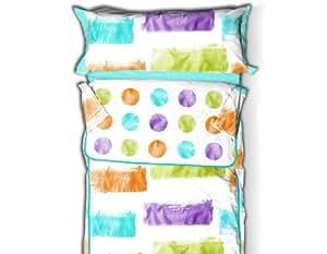 Burrito Blanco - Juego de saco nórdico Fashion 61 para cama 90x190/200 cm, color turquesa