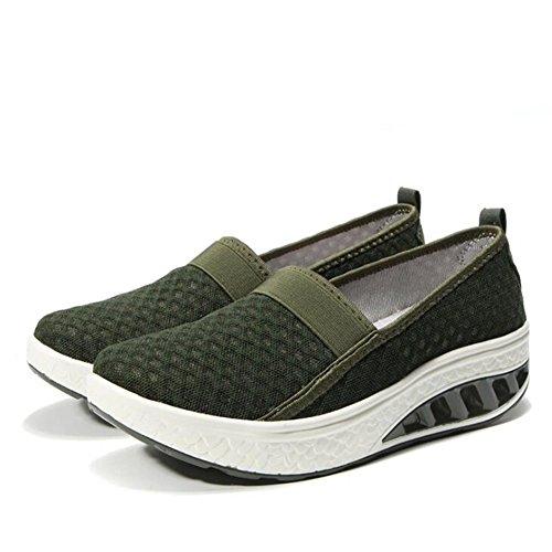 Sacudida de Mujeres Malla la tamaño Las de de Las la Zapatos de Zapatos Cuesta señoras la del Malla 2018 Grande de de Zapatos de la CAI de Sacudida talón Transpirables Casuales zEqHYxw
