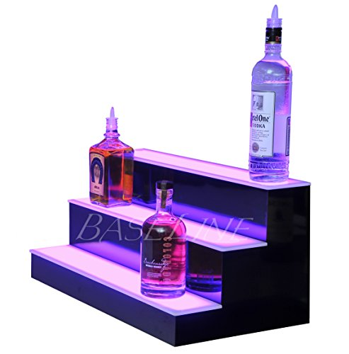 24'' 3 Step Lighted Liquor Bottle Display Shelf with LED Color Changing Lights by L.E.D. Baseline, Inc. (Image #2)