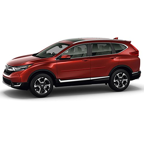 (Dawn Enterprises FE-CRV17 Finished End Body Side Molding Compatible with Honda CR-V - DARK CHERRY PEARL (R529P))