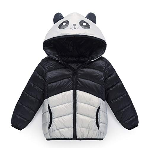 Baby Girl Boy Coat Ultra Hooded Fairy Toddler Light Black Outwear Down Panda Jacket dwqatZSFn