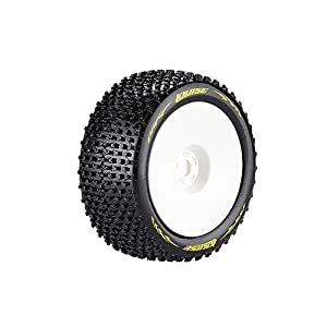 HobbyKing LOUISE T-PIRATE 1/8 Scale Truggy Tires Super Soft Compound / 1/2 Offset / White Rim /