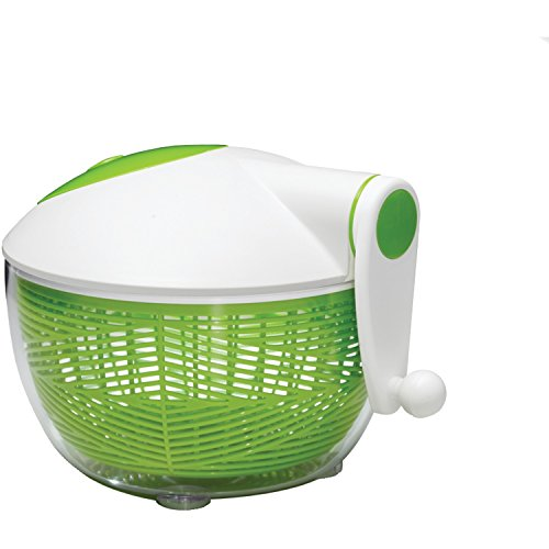 (Starfrit 093028-002-0000 Salad Spinner, Green/White)