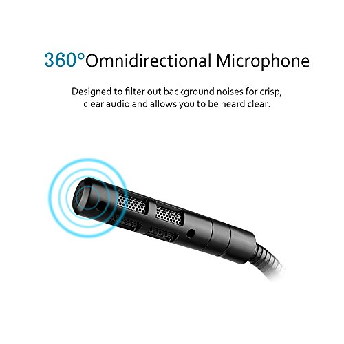 XIAOKOA PC Condenser Microphone, Microphones for PC/Desktop/Laptop/Notebook/Ipad Plug & Play 3.5mm Adjustable for Recording, Gaming, Podcasting, Online Chatting by