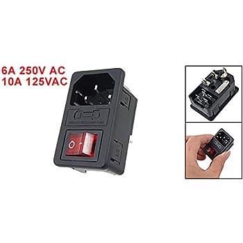 41gFiwANuXL._SL500_AC_SS350_ amazon com urbest power socket switch iec 320 c14 red light IEC 320 C14 Power Plug at creativeand.co