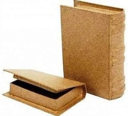 2 cajas de papel maché en forma de Mini libro - 6 x 9 x2cm y 8 x ...