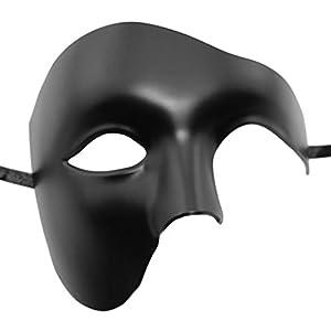 Coxeer DIY Half Face Mask Phantom of The Opera Mask Venetian Masquerade Mask Vintage Design Mardi Gras Mask