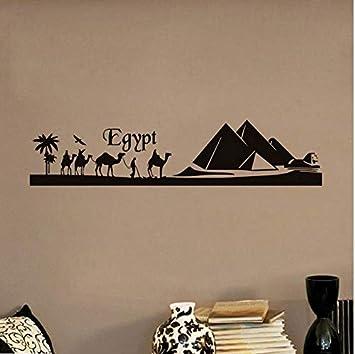 Egipto Pirámide Skyline Camel Arena Etiqueta De La Pared Extraíble ...