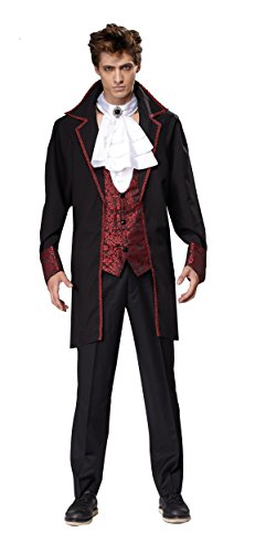 HGM Costume Men's Prince of Darkness, Red/Black, Medium]()