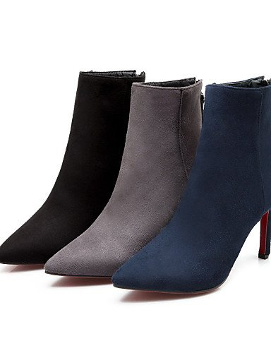 A Vestido Botas Eu36 Moda Blue 5 5 Gray Sintético 5 Mujer Negro De Xzz Cn35 Uk3 us5 Zapatos Azul us5 La Stiletto Tacón Puntiagudos Ante Casual Gris vBz0R
