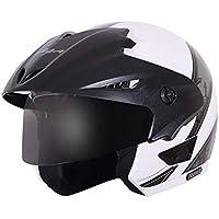 Vega Cruiser Arrows W/P White Base with Silver Graphic Helmet, L