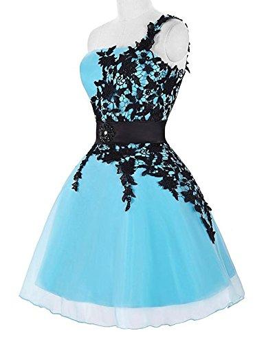Buy light blue and black prom dresses - 9
