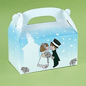 Wedding Gift Boxes Amazon : Amazon.com: Lot of 12 Bridal Groom Wedding Favor Treat Take Home Boxes ...
