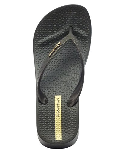 Ipanema 80129 Brasil Trop Iv Fem Black - Sandalias de goma para mujer negro