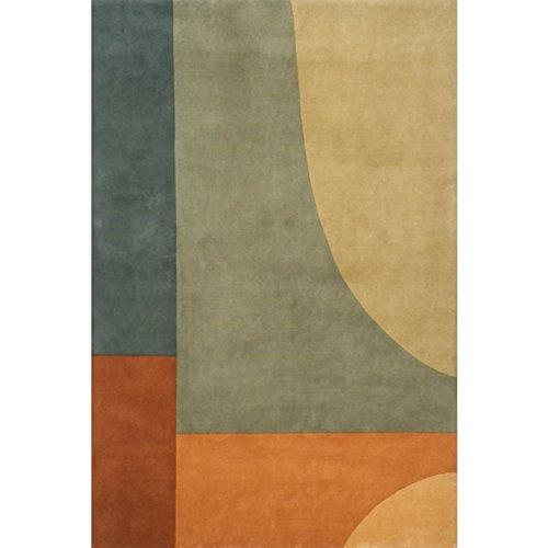 New Wave Collection Runner Rug - Momeni Rugs NEWWANW-15MTI2680 New Wave Collection, 100% Wool Hand Carved & Tufted Contemporary Area Rug, 2'6
