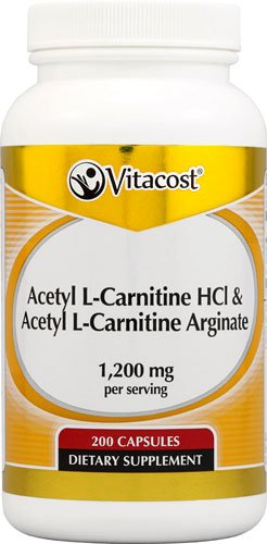 Vitacost Acetyl L-Carnitine HCl & Acetyl L-Carnitine Arginate -- 200 Capsules - 2PC by Vitacost Brand