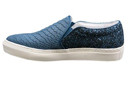 Donna Mocassini Blu Damen blu Beige Slipper Piazza 7AwqzHO8xW