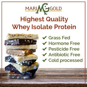 MariGold GRASS FED Whey Protein Bars Sampler Pack- 21+gm Protein, Even LOWER Sugar, Non GMO, Amazing Taste - Made Fresh, Ships Fresh. Purest Ingredients (12) by MariGold Bars (Image #1)