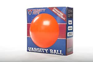 Varsity Ball -- The 110% Guaranteed Indestructible Herding Ball Designed For Human-Free Canine Exercise (Basketball Design)