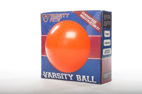 Varsity Ball — The 110% Guaranteed Indestructible Herding Ball Designed For Human-Free Canine Exercise (Basketball Design)