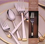 Lenox Eternity Gold 45 Piece Flatware Set New in Box Service for 8 $272