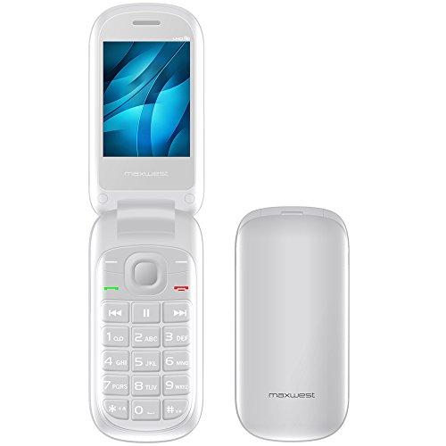 Unlocked Dual SIM Cell Phone, Maxwest UNO Flip 2G, 2 4