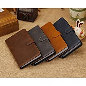Retro Wallet Style Stand Leather Case For Sony Xl39h Xperia Z Ultra --- Color:Black