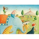 Oopsy Daisy Circus Parade Stretched High Canvas Art, 24'' x 18''