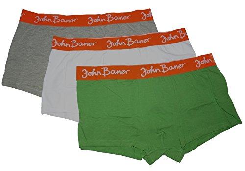 3er-Pack Herren-Hipster John Baner Herrenslips Boxershorts Set Männer Unterwäsche, Größe 9, 10