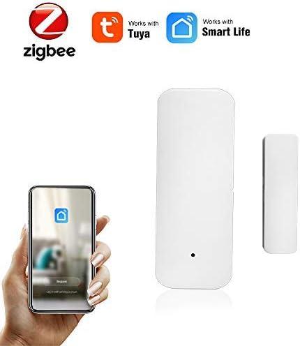 Lechnical ZigBee Tuya Door Sensor Tuya APP Control Door Window Opening Security Alarm Sensor Magnetic Switch Wireless Detector