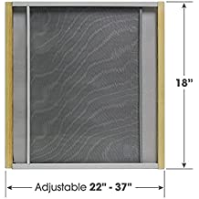 """Adjustable Window Screen Built To Help Air Circulate Through Your Home, Adjusts Its Width Within a Range of 22"""" - 37"""" - 18 in high, Installs in Seconds No Tools Needed"""
