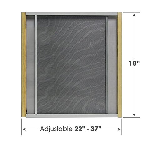 (Adjustable Window Screen Built To Help Air Circulate Through Your Home, Adjusts Its Width Within a Range of 22