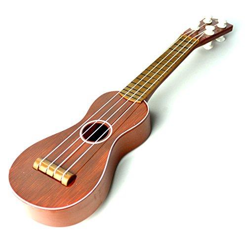 Firlar 39cm/15.6in Mini Guitar Simulation Ukelele Play Musical Instrument Toy for Children Random Color
