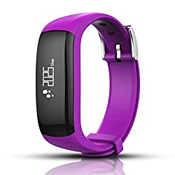 WTGJZN P6 Smart Wristbands Vibrating Alarm Clock Bracelet Calorie Counting Wristband Bluetooth Fitness Tracker for Android iOS