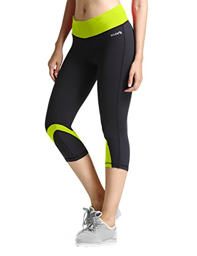 Baleaf Women's Yoga Running Workout Capri Legging