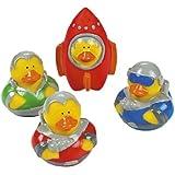 12 ct - Outer Space Astronaut Explorer Rubber Ducks
