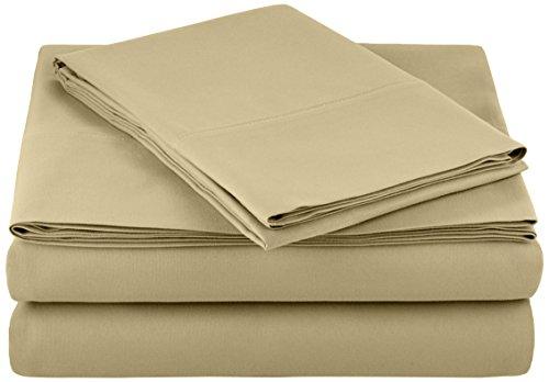 - AmazonBasics Microfiber Bed Sheet Set - Twin, Olive