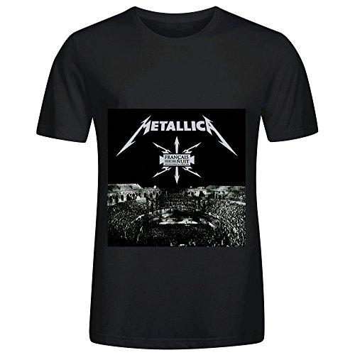 Metallica Franais Pour Une Nuit Live Aux Arnes De Nmes 2009 Tour Rock Men Crew Neck Cool Shirts Black