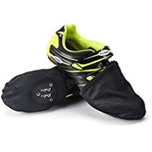 WEANAS Unisex Cycling Shoe Covers, Thermal Cycling Toe Cover for MTB Toe Warmer and Protector (Black XL)