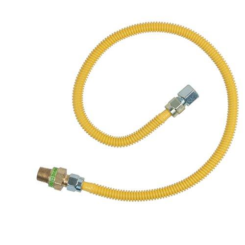 Brasscraft Cssd45R36 P Safety Plus Gas Appliance 1/2'' Od Connector With 1/2'' Mip Efv x 1/2'' Fip x 36'' by BrassCraft (Image #1)
