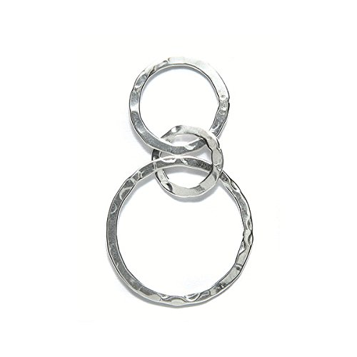 Amoracast AM123 Sterling Silver Link Hammered Circles Jewelry Making Components, 22 x ()