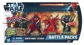 Star Wars The Clone Wars Special Edition Exclusive 3.75 Action Figure Battle Packs Darth Maul Returns