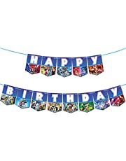 Beyblade Theme Happy Birthday Banner Gaming Party Supplies For Kids and Adults Birthday Party Decorations