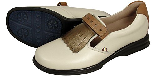 Sandbaggers Royal Kilt Cream Women's GolfShoes Size (Sandbaggers Womens Shoes)