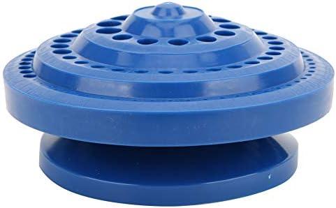 Bohrbox, BiuZi 1Pc Kunststoff Multifunktionale Bohrbox Werkzeugaufbewahrungskoffer Runde Form Bohrer Mehrfachlöcher DIY Kunststoffbox Blau