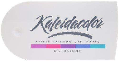 Stone Stamp Pads - Tsukineko KA000007 5-Color Kaleidacolor Dye Inkpad, Birthstone
